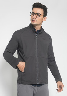 Jaket Casual - Motif Polos - 2 Side Jacket - Warna Abu