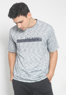Regular Fit - Kaos Casual - Warna Abu - Tulisan LGS Jeans