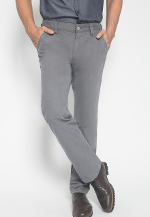 CELANA CHINOS - CELANA CASUAL -DOUBLE POCKET - Warna ABU