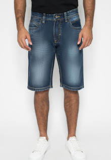Jeans Pendek - Style Full Washed - Dark Blue