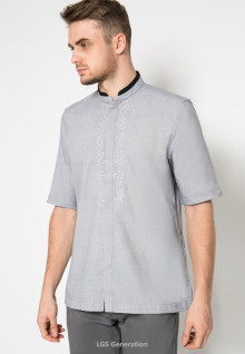 LGS - Baju Koko - Middle embroidery - Biru