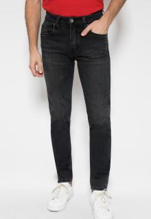 Jeans Premium - Slim Fit - Hitam - Motif Polos