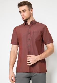 Regular Fit - Kemeja Casual - Single Pocket - Merah