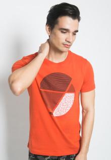 Slim Fit - Kaos Youth - Gambar Sablon - Lingkaran - Orange