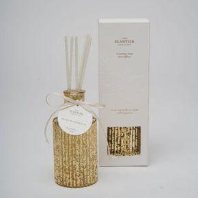 ELANTIER VINTAGE GOLD BOTTLE ROOM DIFFUSER GINGER VERBANA WITH ELANTIER SOFT BOX