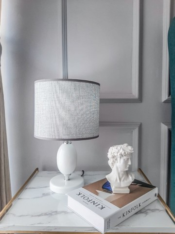 Table Lamp Obisidian White Kap