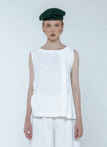 Broken White Alexa Asymmetrical Top