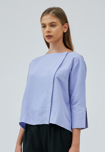 Purple Navia Side Buttoned Top