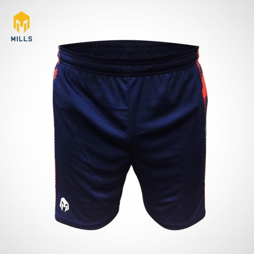 MILLS FOOTBALL SHORT EAGLE SHIELD 3011 NAVY ORANGE