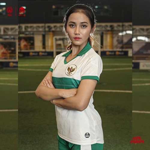 MILLS INDONESIA NATIONAL TEAM JERSEY AWAY WOMEN PLAYER ISSUE 22018 WHITE