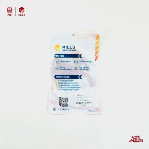 MILLS MASK INDONESIA #KITAGARUDA A1 1102 RED WHITE