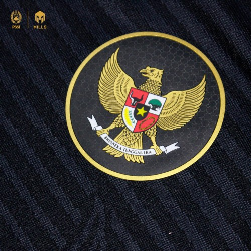MILLS INDONESIA NATIONAL TEAM JERSEY THIRD PLAYER ISSUE LONG SLEEVE 1025GR BLACK