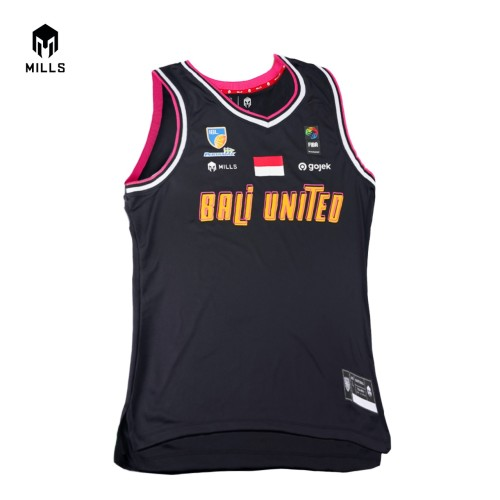 MILLS BALI UNITED BASKETBALL THIRD JERSEY 26003 BU BLACK