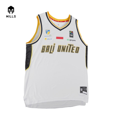 MILLS BALI UNITED BASKETBALL AWAY JERSEY 26002 BU WHITE