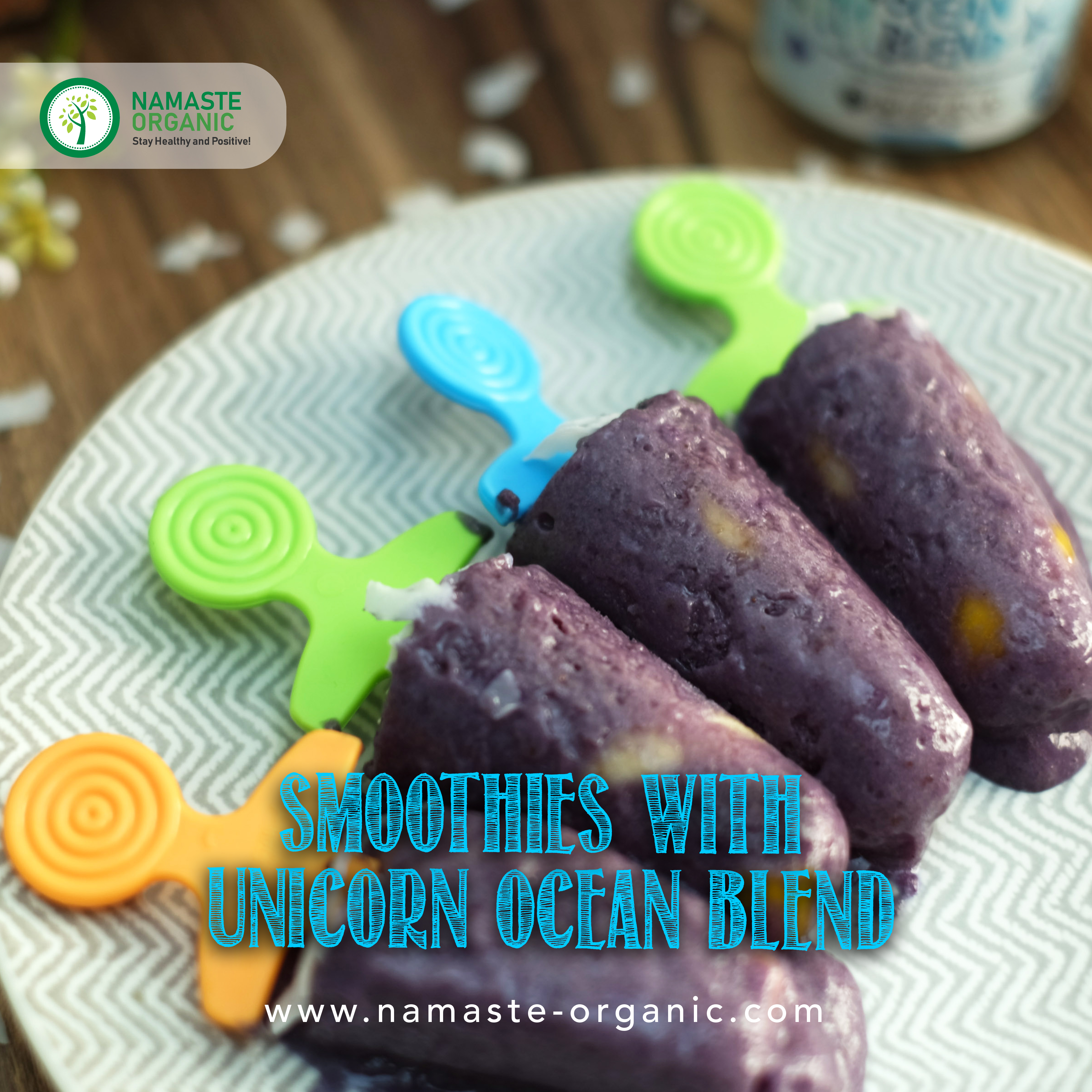 SMOOTHIES WITH UNICORN OCEAN BLEND image