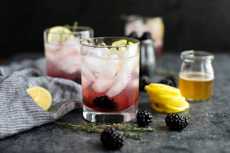 BLACKBERRY THYME WITH COLLAGEN INFUSED WATER image