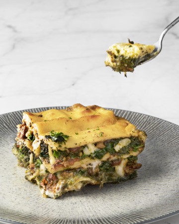 Small Spinach Lasagna