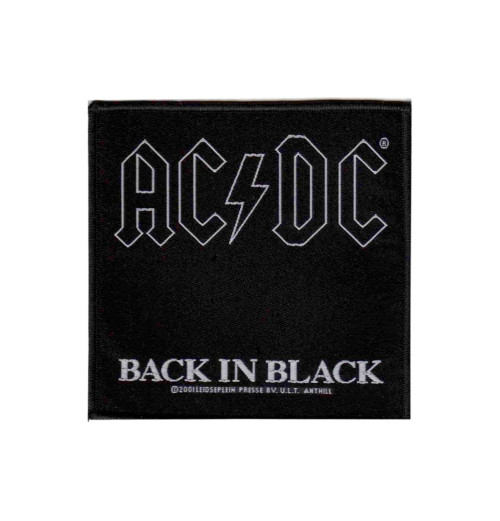 ACDC - Back in Black Patch