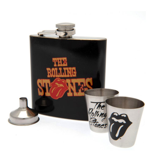 The Rolling Stones - Hip Flask 2 Cup & Funnel