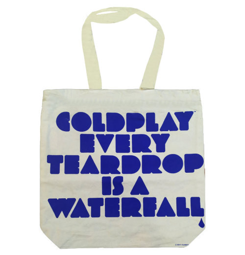 Coldplay - Fuzzy Man/Every Teardrop is a Waterfall Tote Bag