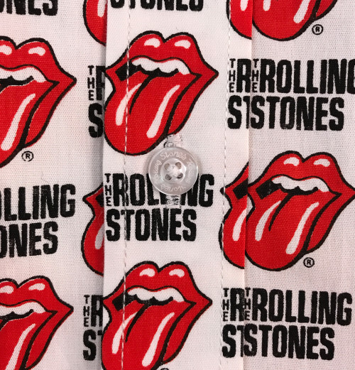 The Rolling Stones - Tongue And Text White Shirts