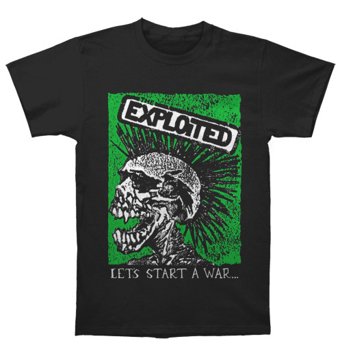 The Exploited - Let's Start A War Skull