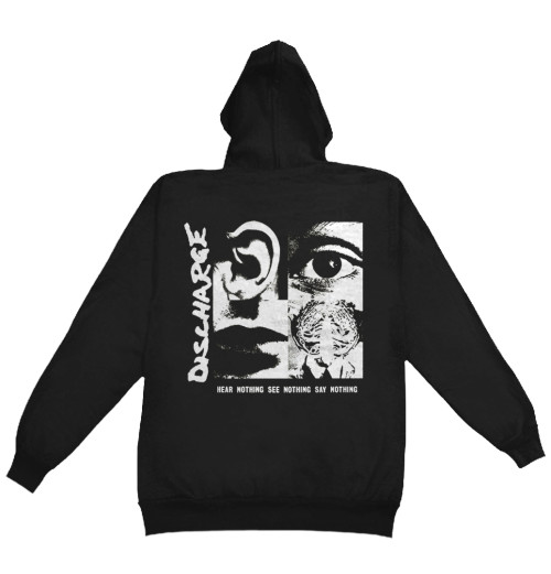 Discharge - Hear Nothing Zip Hoodie UK