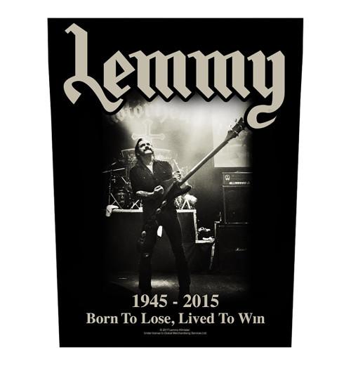 Lemmy - Lived To Win Backpatch