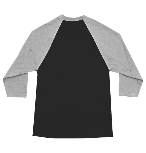 Nirvana - Smiley Black/Grey Raglan