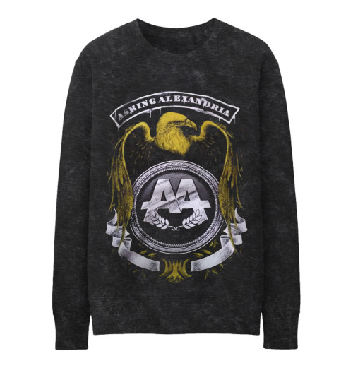 Asking Alexandria - Eagle Crewneck Misty Grey