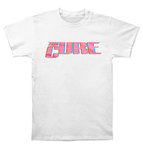 The Cure - Neon Logo White