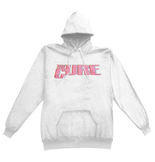 The Cure - Neon Logo White Hoodie