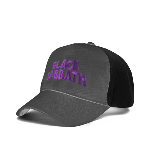 Black Sabbath - Wavy Logo Black Charcoal Baseball Cap