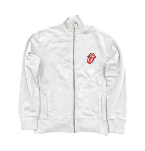 The Rolling Stones - Classic Tongue White Zip Jacket