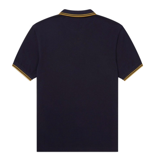 Queen - Crest Logo Navy Polo Shirt