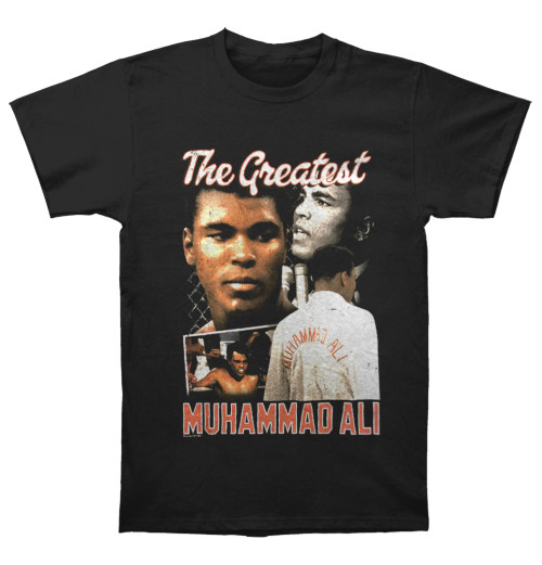 Muhammad Ali - Script Collage Black