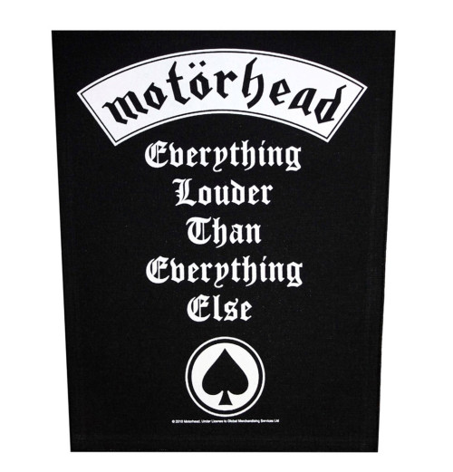 Motorhead - Everything Louder Backpatch