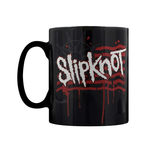 Slipknot - Dripping Flag And Logo Boxed Mug