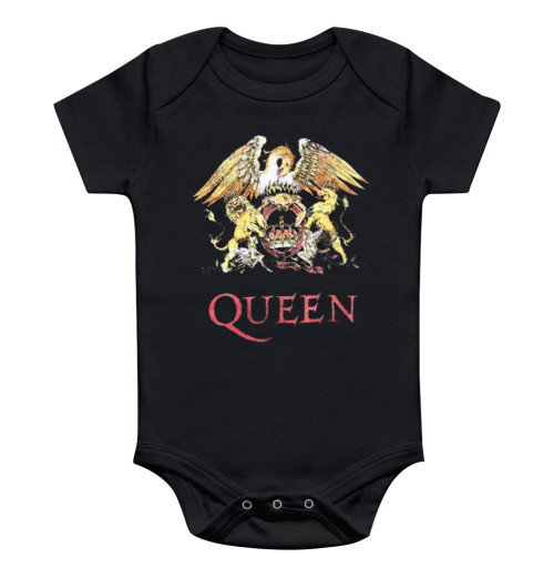 Queen - Classic Crest Toddler Baby Rompers