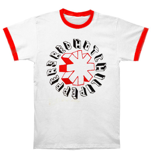 Red Hot Chili Peppers - Hand Drawn Ringer White