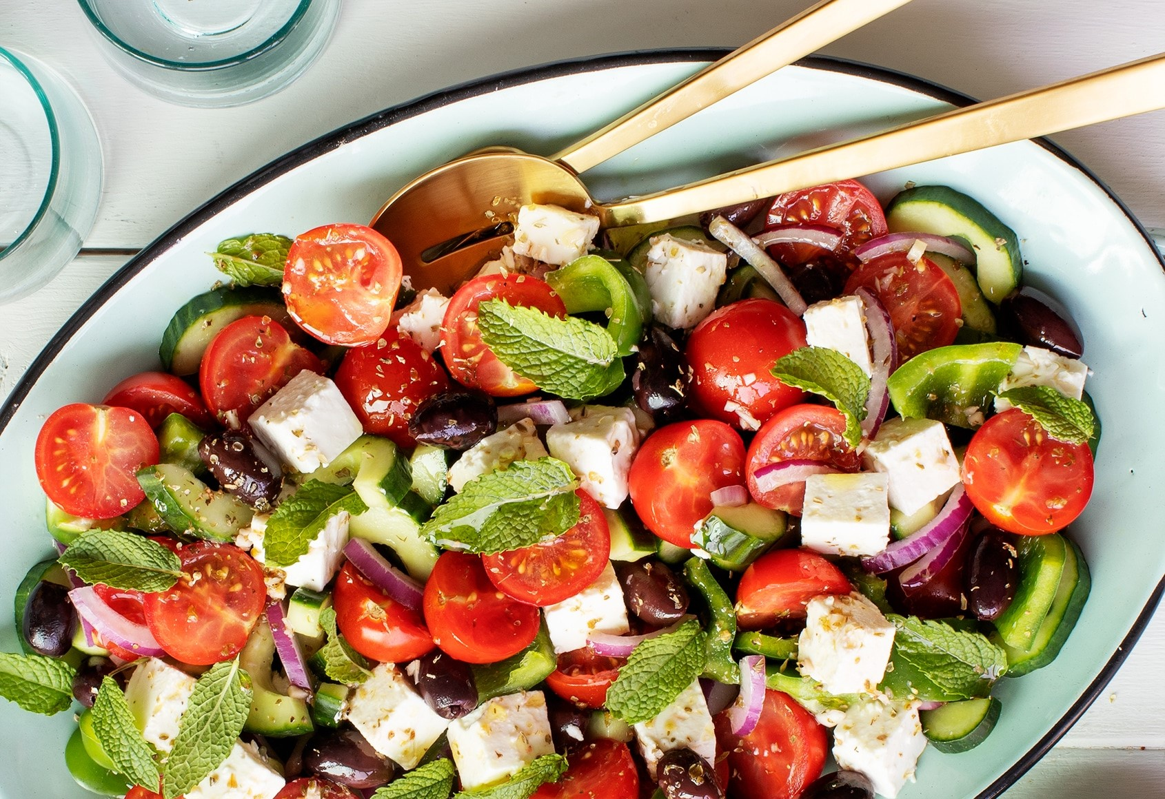 Self-isolation recipe : feta salad image