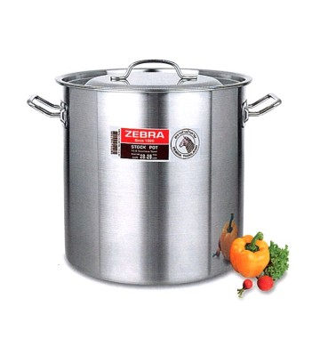 Zebra Professional Stock Pot 2 Handles with Lid image