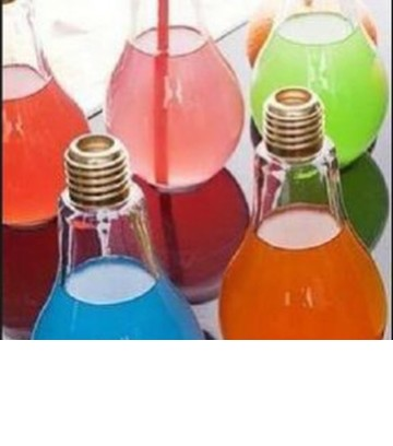 Bareca Glass Jar With Lid - Model Bohlam Lampu 250 cc (1 Pack = 9 Pieces) image