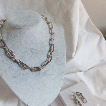 CONSTANCE SILVER NECKLACE
