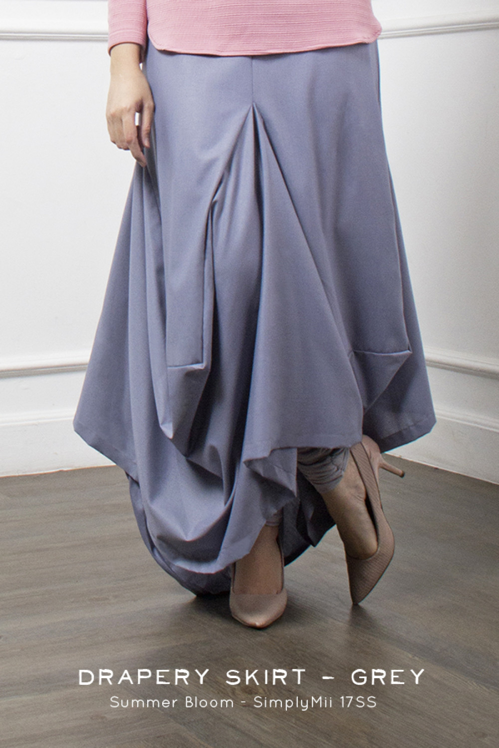 DRAPERY SKIRT GREY 1