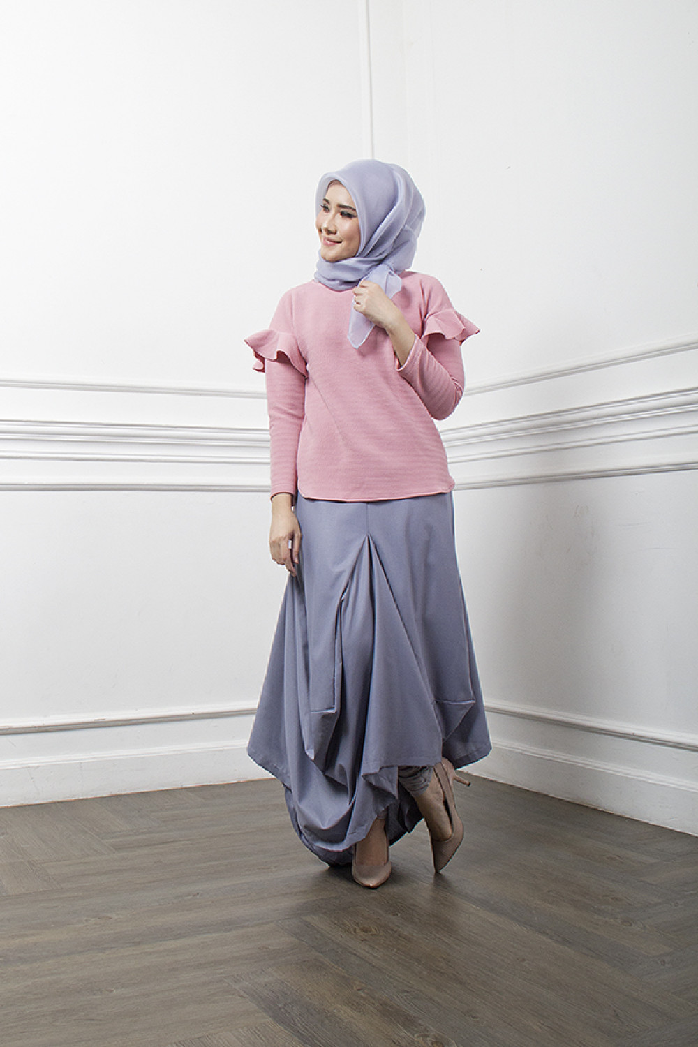 DRAPERY SKIRT GREY 2