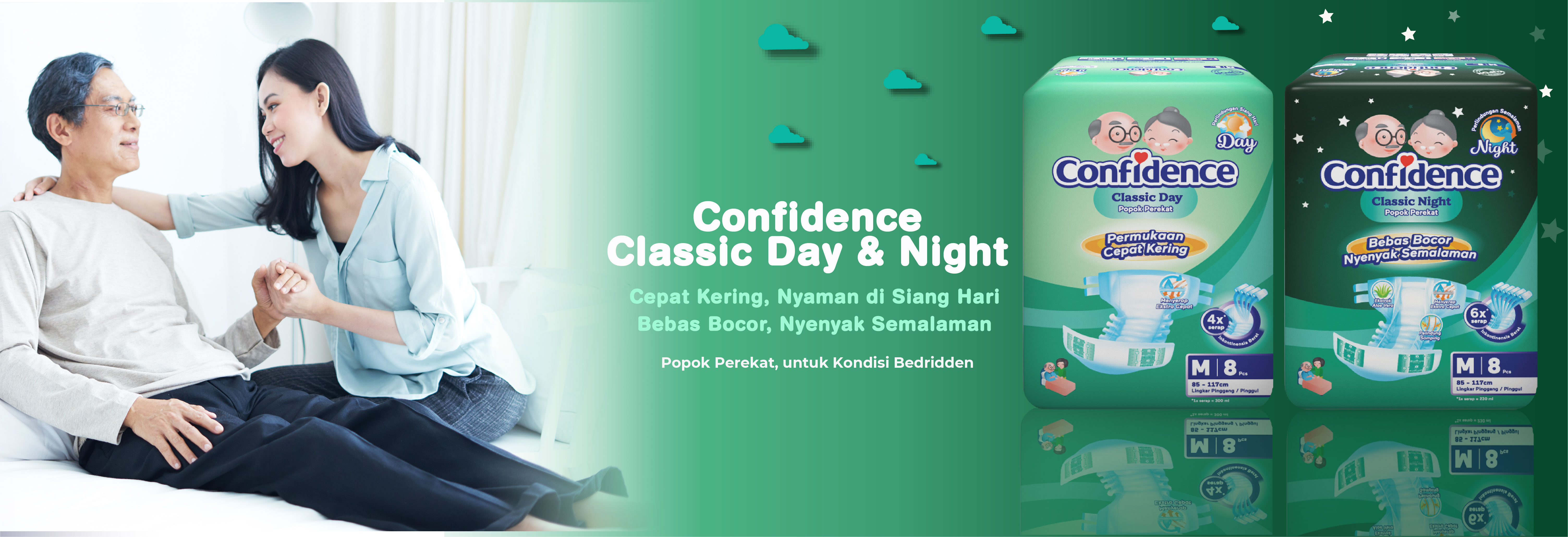 Confidence Adult Diaper Classic Day & Night