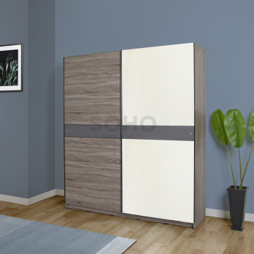 Lington Sliding Wardrobe Brown