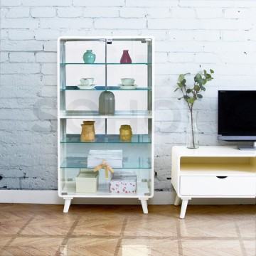 Wide Showcase Ivory
