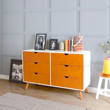 Modern 6 Drawers Two Tone